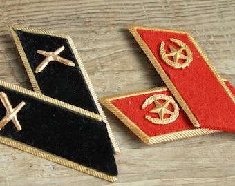 2 set of Vintage Epaulets  ... USSR army straps shoulder boards ... shoulder strap