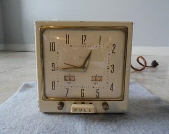 1940's Westclox Electric Alarm Clock - Metal