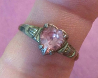 Very vintage pink heart Ring 6