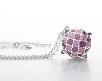 Enamel jewelry, Silver pendant, Enamel pendant, enamel charm pendant