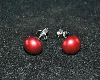 Authentic Honora Cultured Cherry Pearl Earrings in Sterling