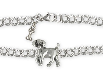 Labrador Retriever Puppy Bracelet Jewelry Sterling Silver Handmade Dog Bracelet LB12-BR