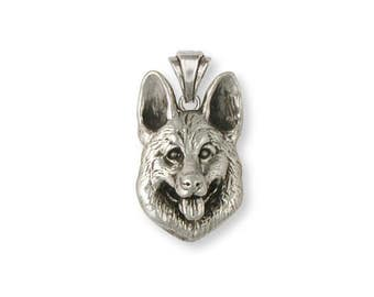 German Shepherd Pendant Jewelry Sterling Silver Handmade Dog Pendant GS23-P