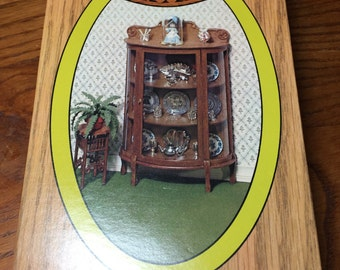 Chrysnbon 1/12th Scale China Cabinet Kit for A Dollhouse