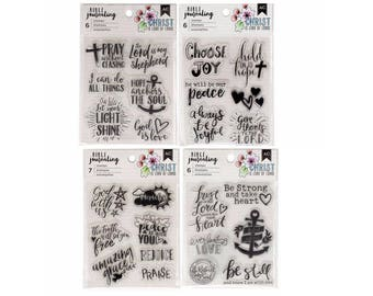 Bible Journaling Stamps ALL 4 SETS by American Crafts Bible Journaling Clear stamp set  1.cc06