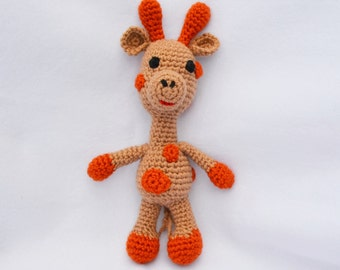 Crocheted Animal Giraffe, Newborn Photography Prop