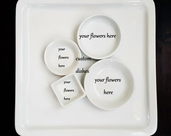 Custom Ring Dish, Personalized Ring Dish, Wedding Anniversary, Valentines Day Gift, Pressed Flowers Dish, Memorial Plate