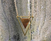 Free Form Triangle Necklace