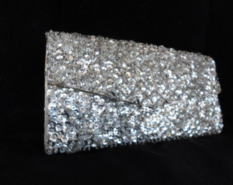 Vintage Beaded & Sequined Clutch Bag