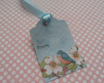 Spring Tag, Easter Tag, Pastel Tags, To and From Tag, Gift Tag