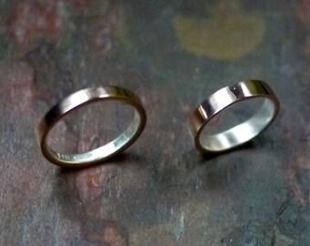 Bronze Wedding Ring, Bronze Ring, Mens Wedding Ring, Mens Silver Ring, Mens Bronze Ring, Thin Bronze Ring, Thin Wedding Ring