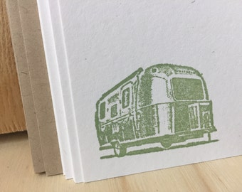airstream note cards, vintage rv stationery set, vintage inspired, retro rv, airstream stationery set.