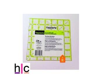 "Quilting Grid, Quilters Ruler, Prym 6.5"" x 6.5"" Omnigrip Ruler, Fabric crafts, Fabric Grids, Non-slip ruler"