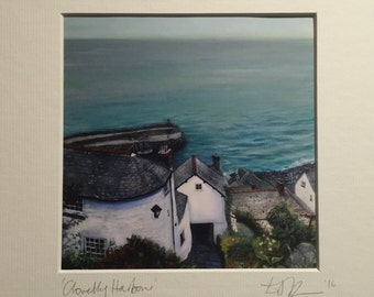 Clovelly Harbour, Limited edition print taken from my original painting.