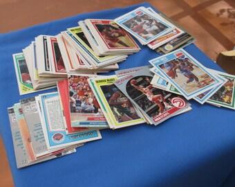 Box  Of Retro Assorted Basketball Cards 1989-1990
