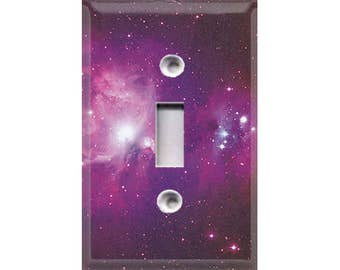 Cosmic Shine - Purple Light Switch Cover