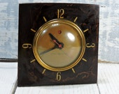 General Electric Clock The Candidate Self Starting Electric Vintage Sleek Art Deco 1940s Electronics Bedside Clock Faux Cherry Wood Clock