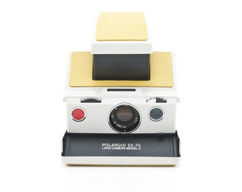 Polaroid SX-70 Land Camera Model 2 Alpha - New Yellow Crinkle Leather - Film Tested and Working