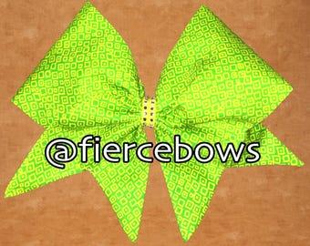 Lemon Lime Hand Sewn Bow