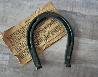 Antique Horseshoe, 1879 Hoover Forge Horseshoe, Vintage Horseshoe, Rustic Barn Decor, Farmhouse Decor, Lucky Horse Shoe, Herbert Hoover