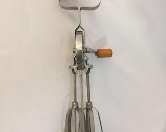 1930s Bakelite and Stainless Steel Egg Beater Mixer