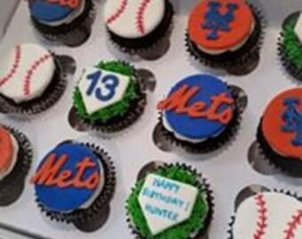 baseball edible toppers