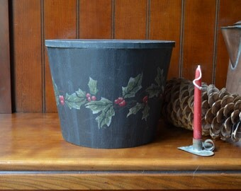 Christmas Decor Hand Painted Wood Box with Lid Charming Cottage Decor Simple and Quaint Cottage Winter Decor I Ship Internationally