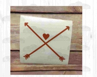 Arrows with Heart Decal
