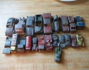mixed lot of metal tootsie car 60's