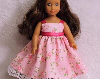 Mini AG 6.5 inch Doll Pink Dress and Shawl