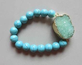 Natural Quartz Druzy Bracelets C4894