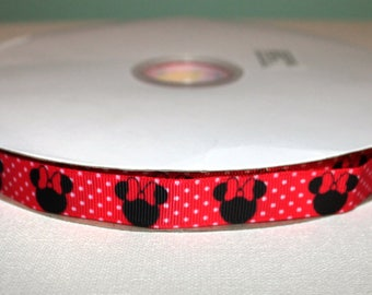 """5/8"""" Minnie Mouse Dot Ribbon"""