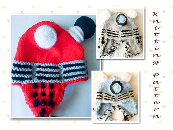 Free Knitting Pattern Dalek Hat : Knitting Pattern Robot hat Dalek Hat dr who by WistfullyWoolen