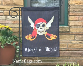 Personalized Pirate Flag, Garden or House Flag, Jolly Roger 2