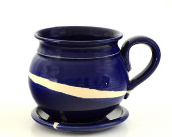 Hand Crafted Ceramic Mug with Plate