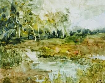 Yupo Landscape II