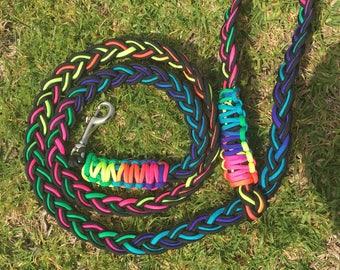 9 strand braid hands free leash