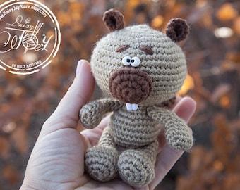 Crochet amigurumi Beaver Beaver plush, beaver stuffed animal toy, beaver toy, ready to ship