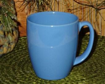 Set of 4 Blue Corelle Stoneware Mugs / Corelle Coffee Cups / Blue Mugs / Blue Coffee Cups / Corelle Thailand