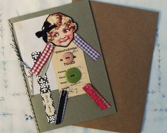 Handmade Collage Greeting Card