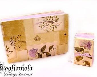 HYDRANGEA hydrangea flower notebook JOURNAL diary purple garden country romantic gift for her mom woman girlfriend violet queen Herbarium