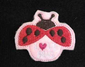 UNCUT Love Bug Lady Bug feltie