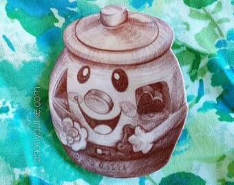 Cookie Jar Kitsch Brooch