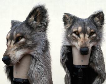wolf mask etsy. Black Bedroom Furniture Sets. Home Design Ideas