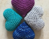 Crochet Hearts (4 items)
