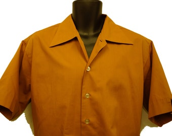 1950s Mens Shirt Sz XL Vintage Retro Uniform
