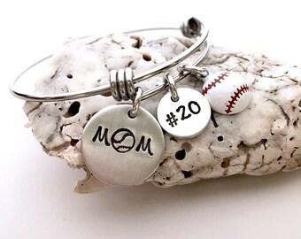 Baseball mom bracelet-custom sports bracelet- adjustable bracelet- Mother's Day gift- mom jewelry- baseball jewelry- team mom gift- mom gift