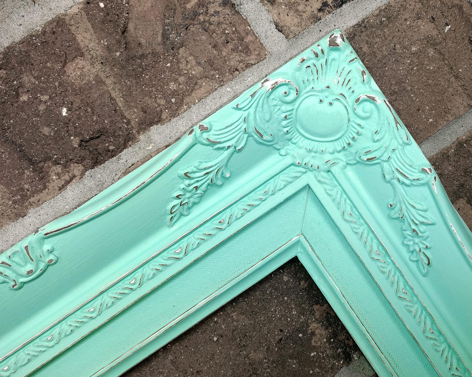 Dificultades madera menta verde cuadro marco detallado grueso ...