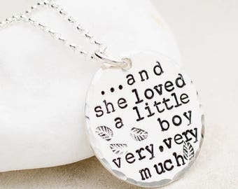Boy Mom Necklace, She Loved a Little Boy, Mother's Day Gift, Gift for Mom, Mother's Necklace, Necklace for Mom, Sterling Silver Jewelry