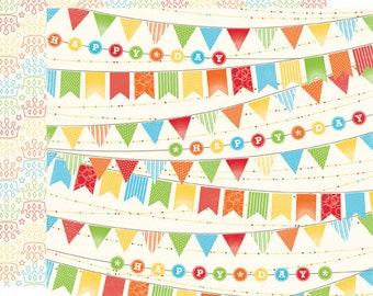 Echo Park Scrapbook Paper - Birthday Banner